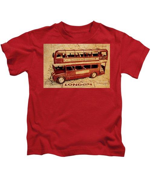 Buses Of Vintage England Kids T-Shirt