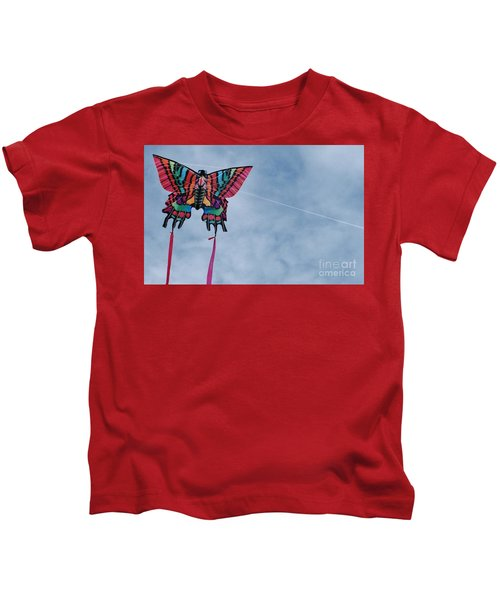 Butterfly Kite 5 Kids T-Shirt