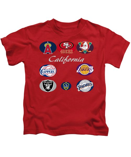 California Professional Sport Teams Collage  Kids T-Shirt