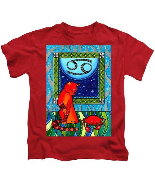 Cancer Cat Zodiac Kids T-Shirt