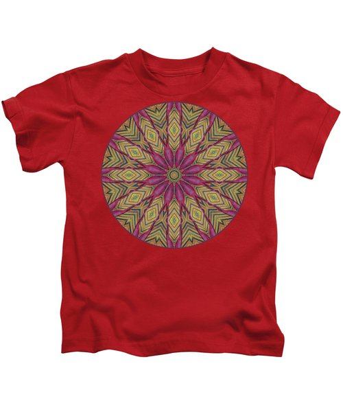 Canna Leaf - Mandala - Transparent Kids T-Shirt