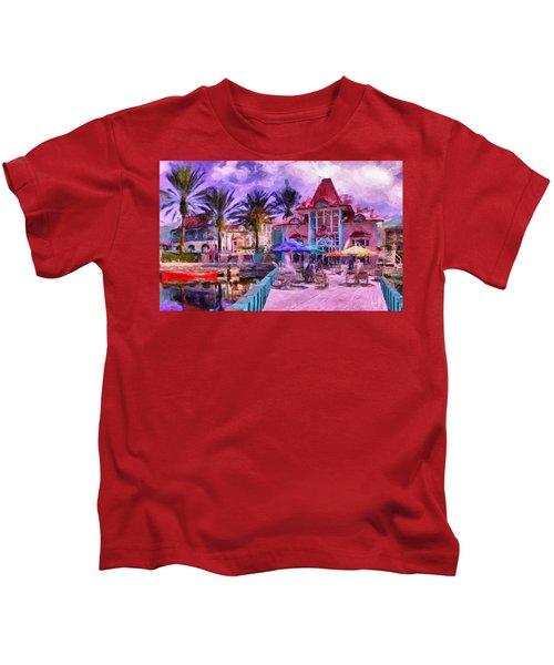 Caribbean Beach Resort Kids T-Shirt