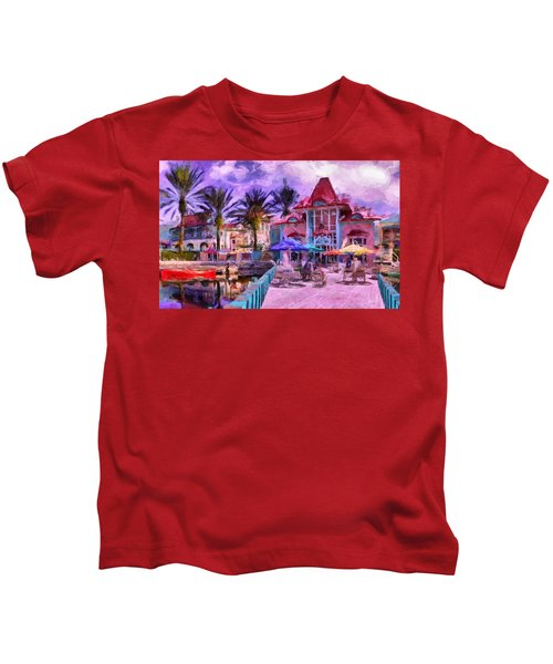 Caribbean Beach Resort Kids T-Shirt