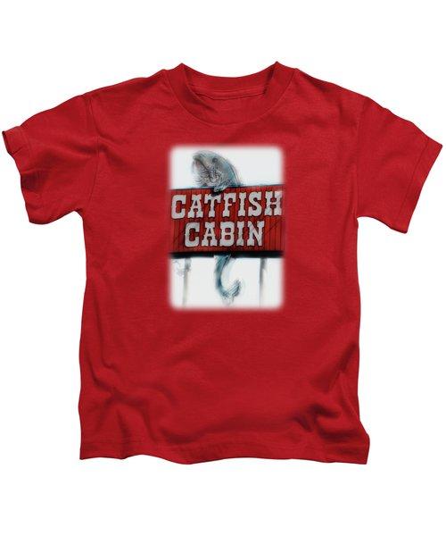 Catfish Cabin  Kids T-Shirt by Anita Faye