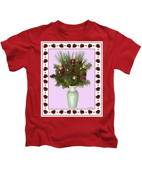 Celadon Vase With Christmas Bouquet Kids T-Shirt