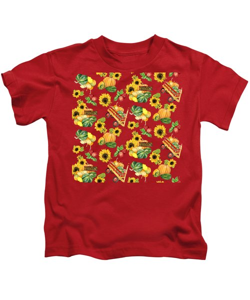 Celebrate Abundance Harvest Half Drop Repeat Kids T-Shirt