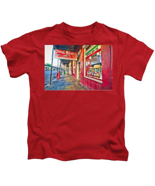 Central Grocery And Deli In The French Quarter Kids T-Shirt