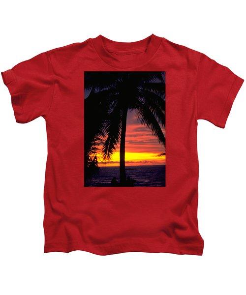 Champagne Sunset Kids T-Shirt