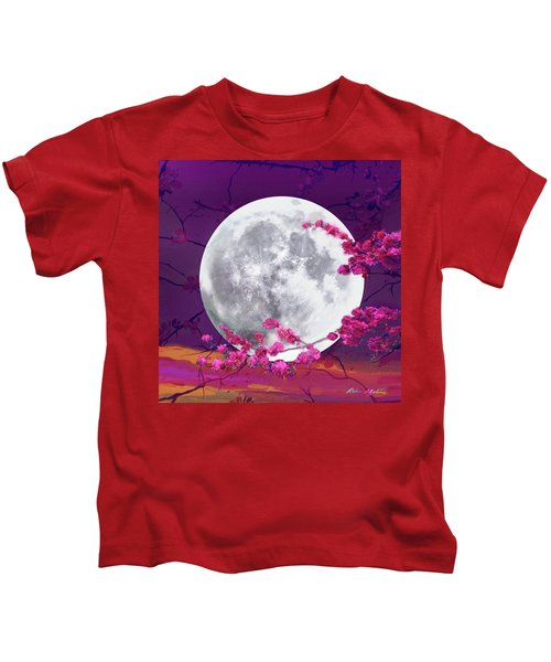 Cherry Moon  Kids T-Shirt