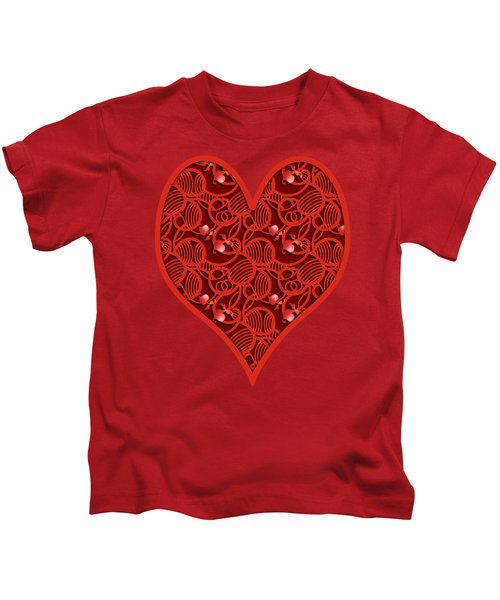 Cherry Tomato Red Hearts Kids T-Shirt