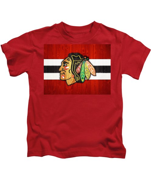Chicago Blackhawks Barn Door Kids T-Shirt