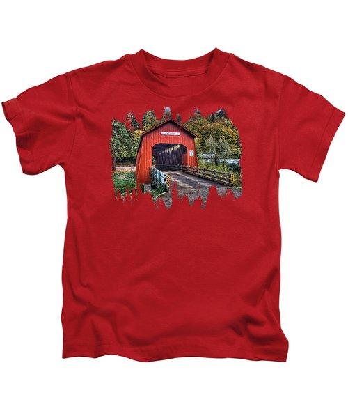 Chitwood Covered Bridge Kids T-Shirt