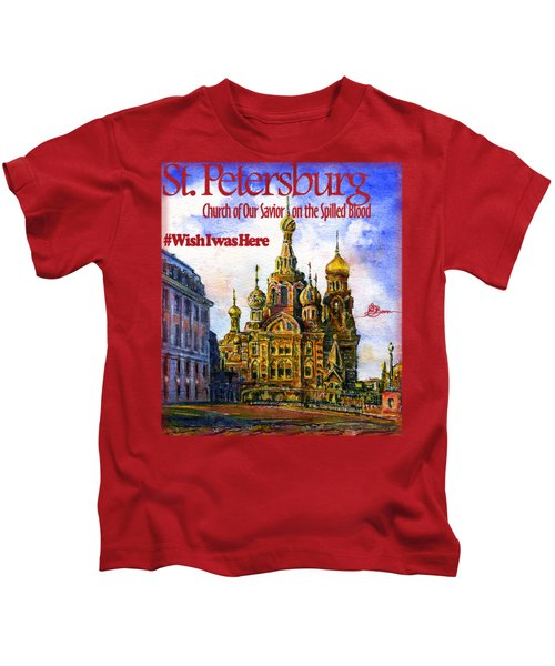 Church Of Our Savior On Spilled Blood Kids T-Shirt