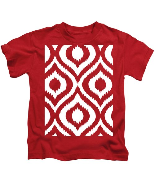 Circle And Oval Ikat In White T02-p0100 Kids T-Shirt