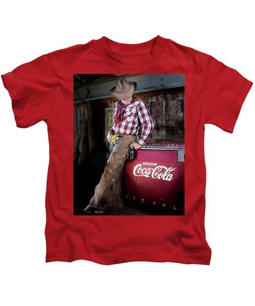 Classic Coca-cola Cowboy Kids T-Shirt
