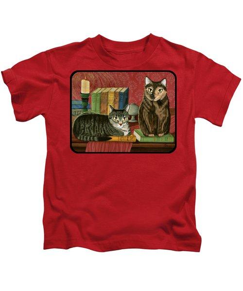 Classic Literary Cats Kids T-Shirt