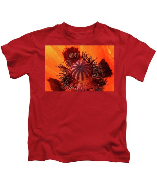 Close-up Bud Of A Red Poppy Flower Kids T-Shirt