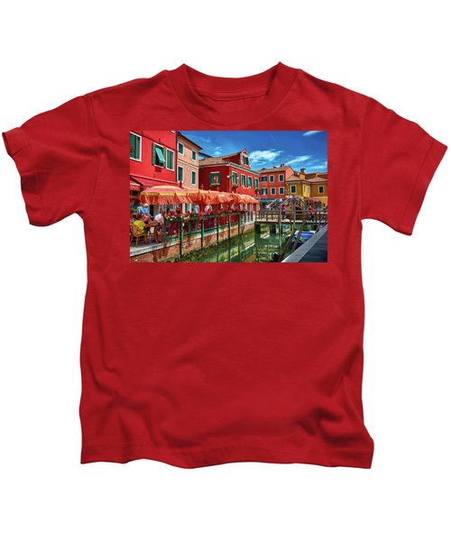 Colorful Day In Burano Kids T-Shirt