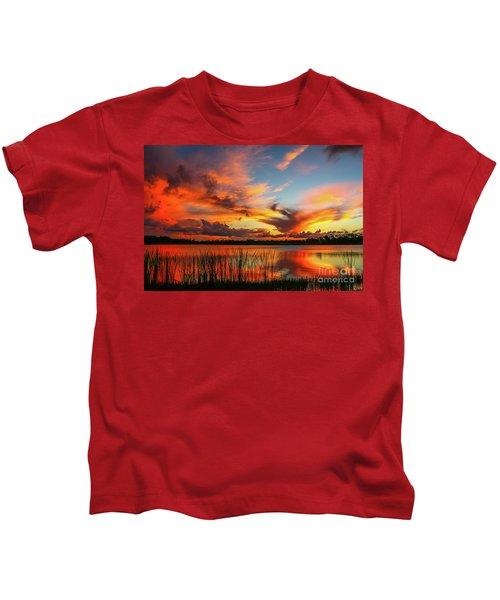 Colorful Fort Pierce Sunset Kids T-Shirt