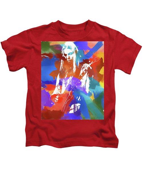 Colorful Gregg Allman Kids T-Shirt