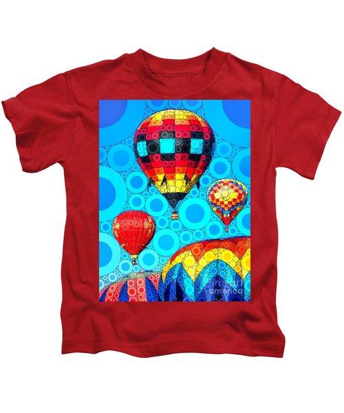 Colorful Hot Air Balloons Kids T-Shirt