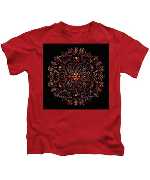 Colorful Mandala With Black Kids T-Shirt