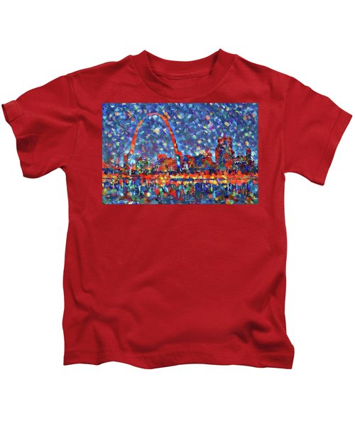 Colorful St Louis Skyline Kids T-Shirt