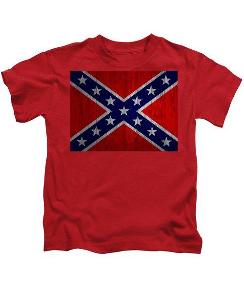 Confederate Flag Barn Door Kids T-Shirt