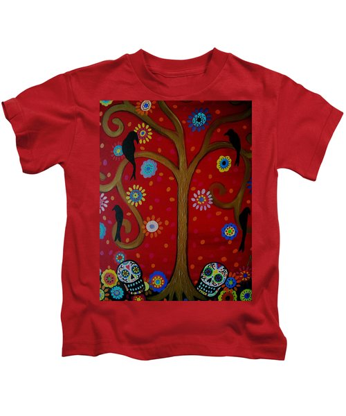 Couple Day Of The Dead Kids T-Shirt