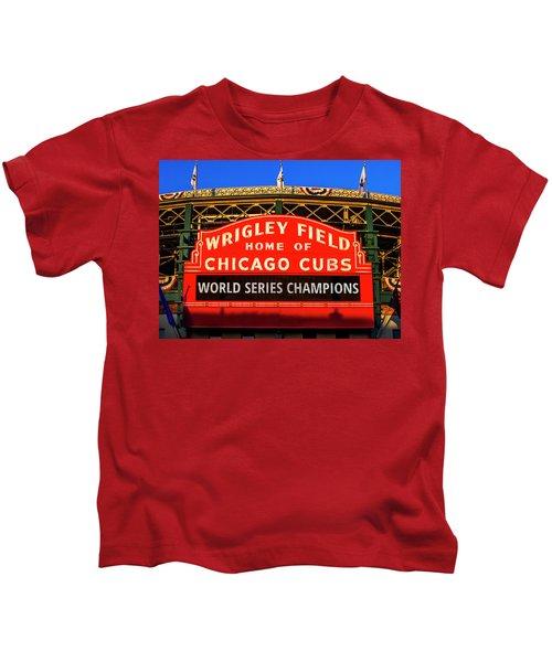 Cubs Win World Series Kids T-Shirt