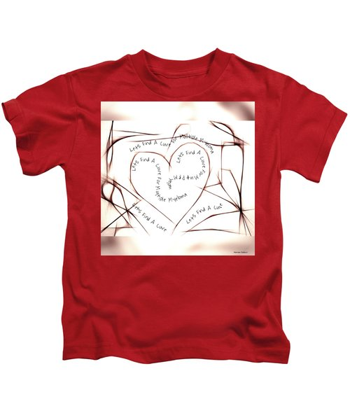 Kids T-Shirt featuring the painting Cure Multiple Myeloma by Marian Palucci-Lonzetta