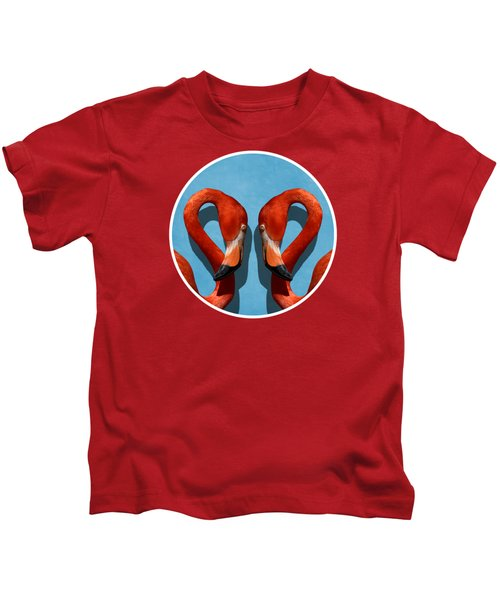 Curves, A Head - A Flamingo Portrait Kids T-Shirt