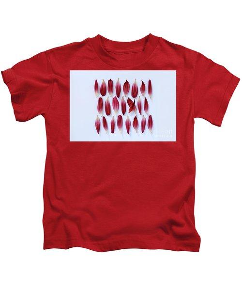 Dahlia Petals Kids T-Shirt