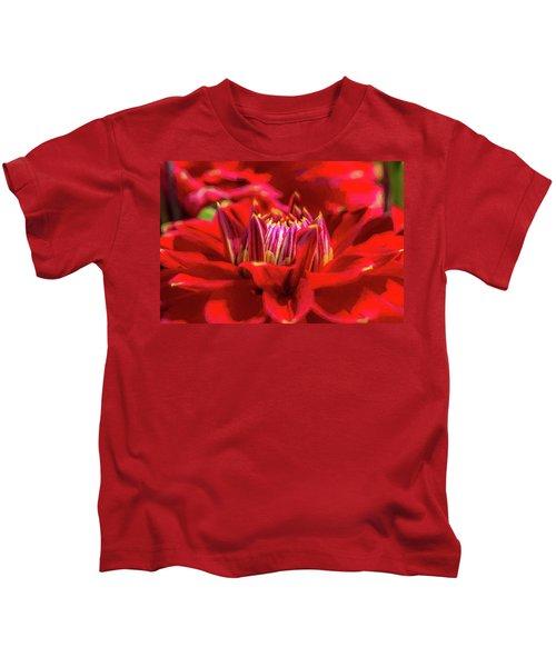 Dahlia Study 1 Painterly Kids T-Shirt