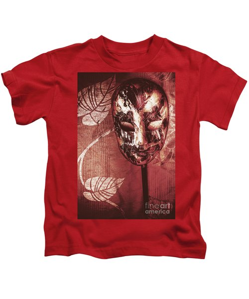 Day Of The Dead Carnival Mask Kids T-Shirt