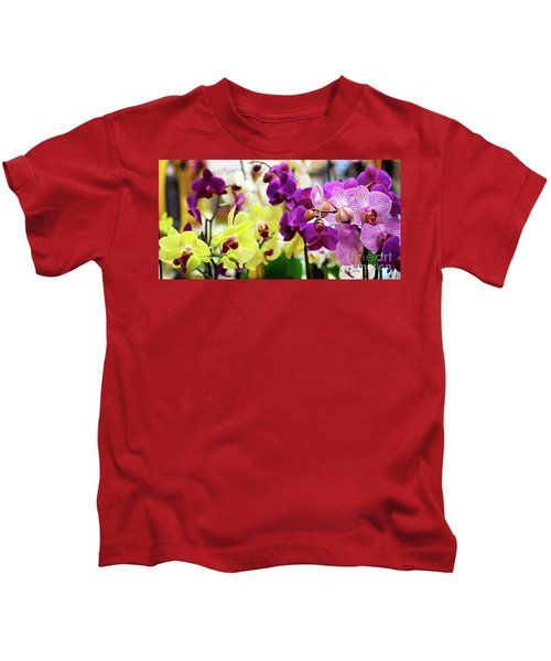 Decorative Orchids Still Life C82418 Kids T-Shirt