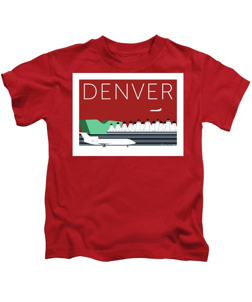 Denver Dia/maroon Kids T-Shirt