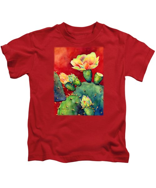 Desert Bloom Kids T-Shirt by Hailey E Herrera