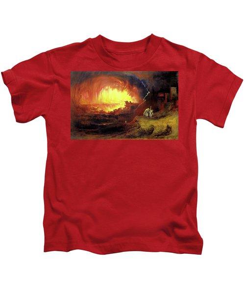 Destruction Of Sodom And Gomorah Kids T-Shirt