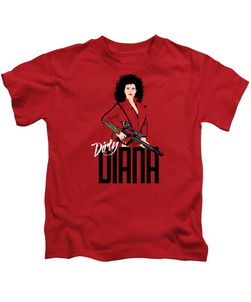 Dirty Diana Kids T-Shirt by Mos Graphix