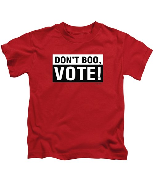 Don't Boo Vote- Art By Linda Woods Kids T-Shirt