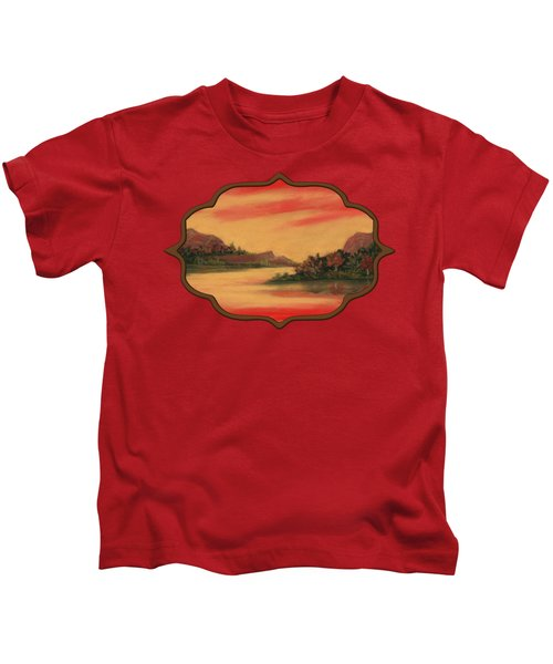 Dragon Sunset Kids T-Shirt