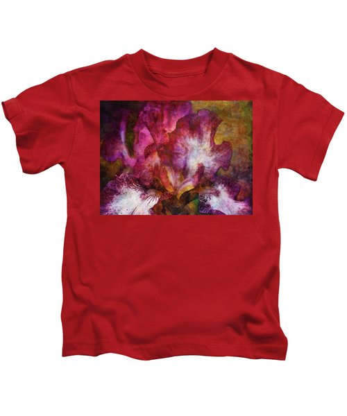 Dramatic White And Purple 0273 Idp_2 Kids T-Shirt