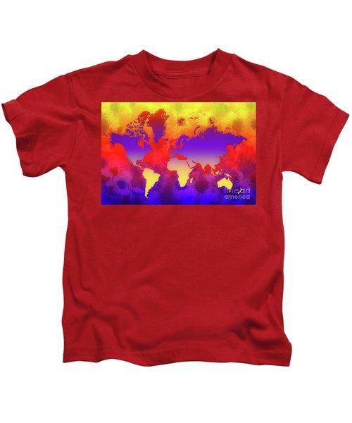 Dream World Map Kids T-Shirt