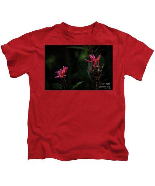 Dual Red Plumerias Kids T-Shirt