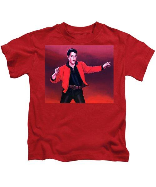 Elvis Presley 4 Painting Kids T-Shirt