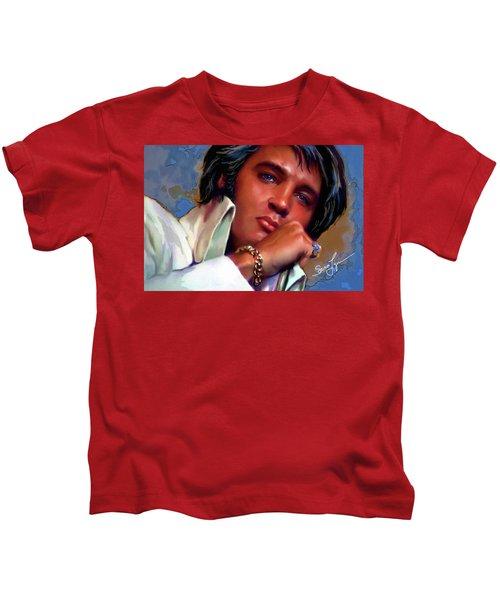 Elvis Presley Art 19 Kids T-Shirt