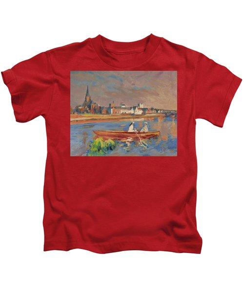 En Bateau De Renoir Sur La Meuse A Maestricht Kids T-Shirt