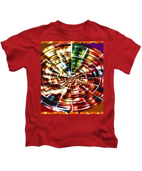 Energy Aura Cleaning Wheel In Motion Yoga Meditation Mandala By Navinjoshi At Fineartamerica.com Kids T-Shirt