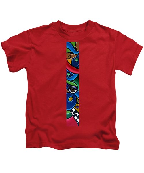 Escape To Venice - Abstract Art Painting, Modern Abstract Eye Art - Ai P. Nison Kids T-Shirt